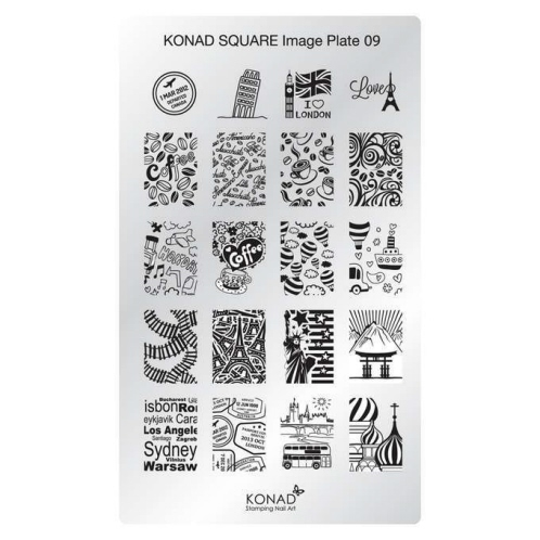 Konad Square Image Plate 09 More Images