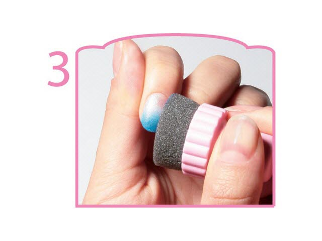 Konad Sponge Nail Art Set White Pastel Pink Pastel Blue Without